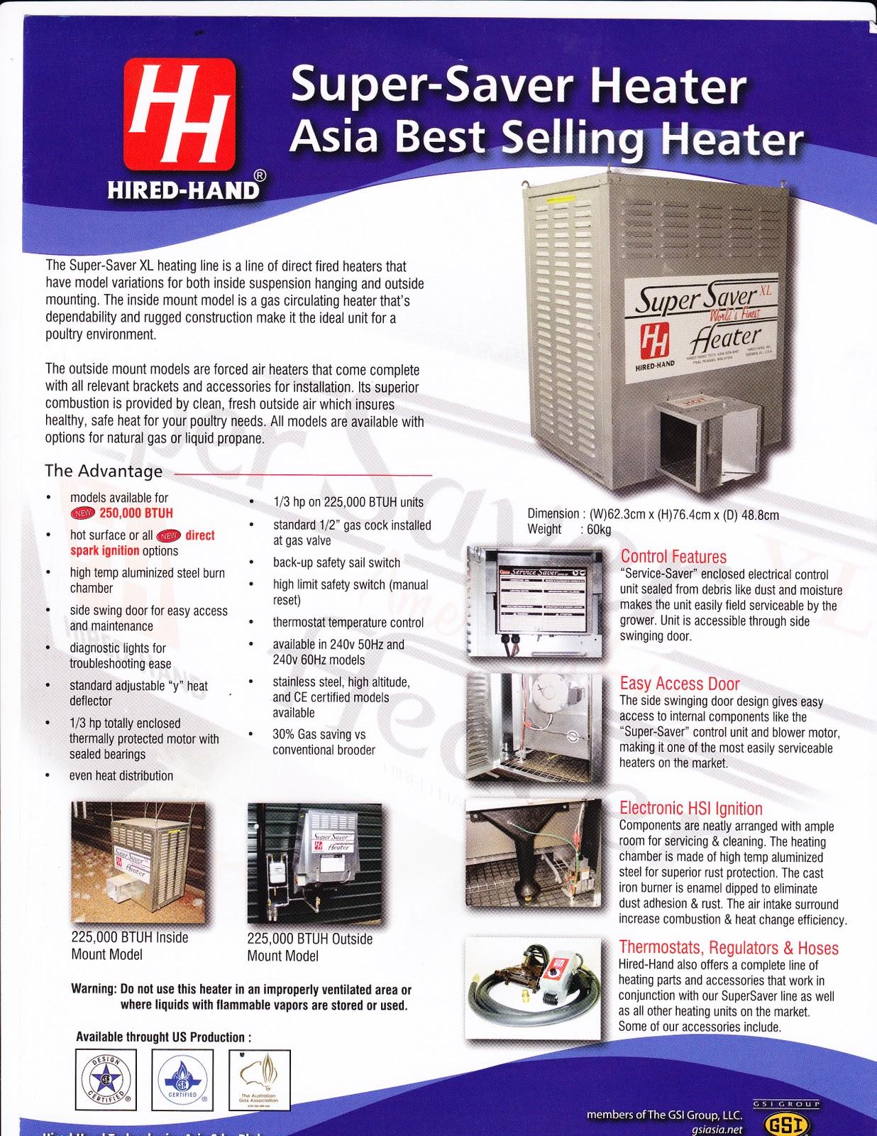 Pemanas Listrik Super Saver Heater Pusat Ternak Indonesia
